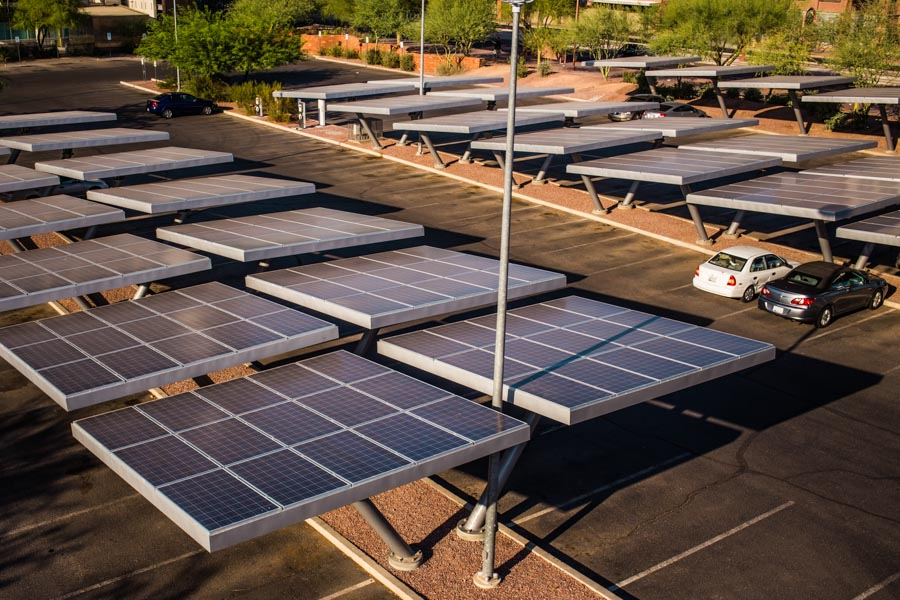 SOLAR POWER COVERED PARKING SYSTEM - PICTURE